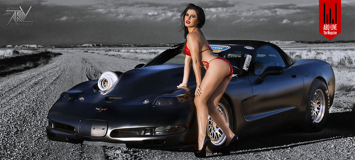 The Death Vette was featured in issue #11 along w/ model Jocelyn Davis. Photo by Kori Kobayashi. Hair & Make up by Melissa Vigil. Owner Trent Durham